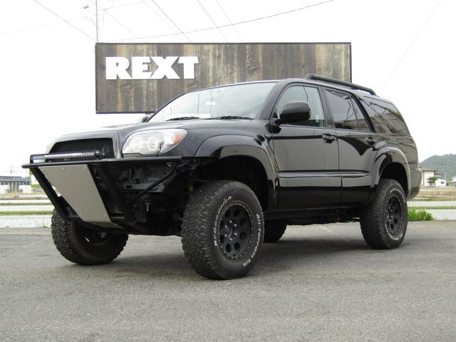 トヨタ ハイラックスサーフ SSR-X 4WD リフトアップ LEDヘッド・テール 16ツヤケシAW 革調シート ヒッチ