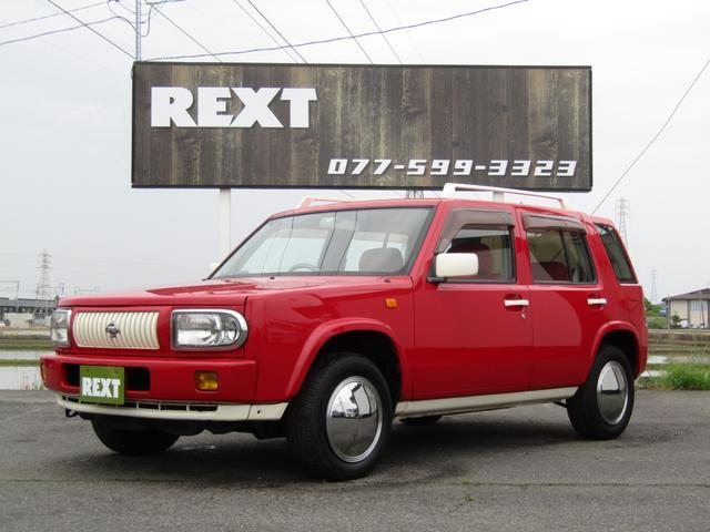 日産 ラシーン タイプL 4WD 赤革調シート 赤パネル ETC CD 外部入力 新品フロアマット