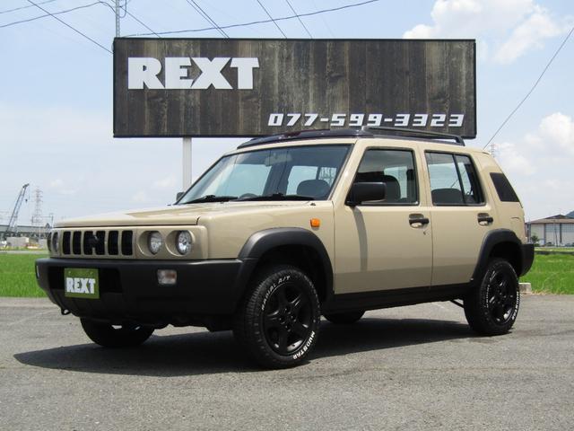 日産 ラシーン フォルザ 4WD 全塗装 ホワイトレター サンルーフ リフトアップ 新品タイヤ つや消しAW ナルディ