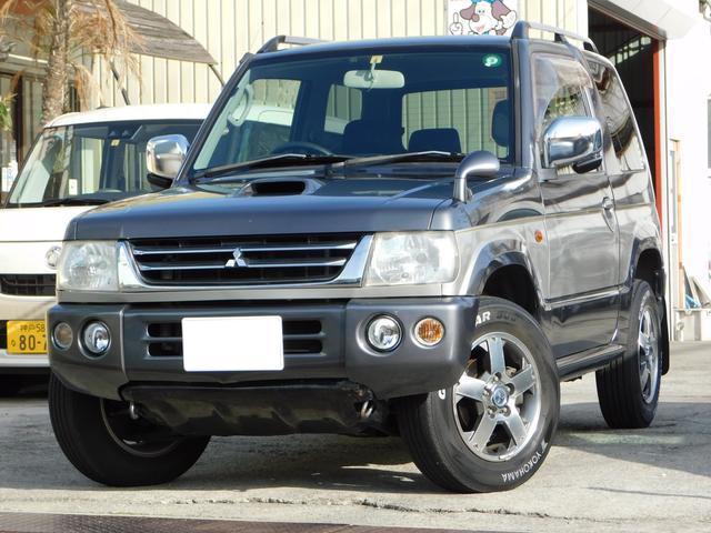 三菱 パジェロミニ スペシャルカラーエディション VR 4WD ナビ ワンセグ ETC 背面タイヤ ルーフレール 純正アルミ