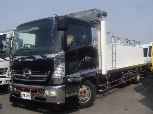 日野 活魚運搬車 3.65t積 4槽式 汲み上げ ETC ベット