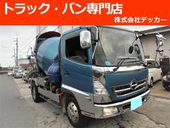 ヒノレンジャーミキサー車 ドラム容量5.6立米 積載6.9t 増t NOX