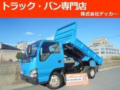 エルフトラック3トン 強化ダンプ 3ペダル 低床 荷寸305−158