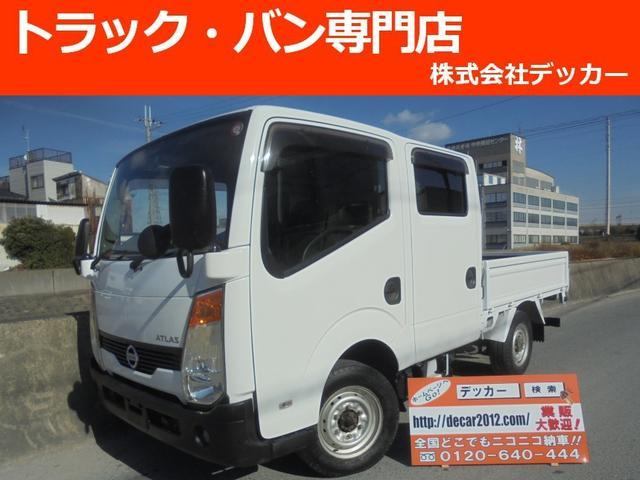 日産 1.15トン Wキャブ 4WD 荷寸199-161 NOX