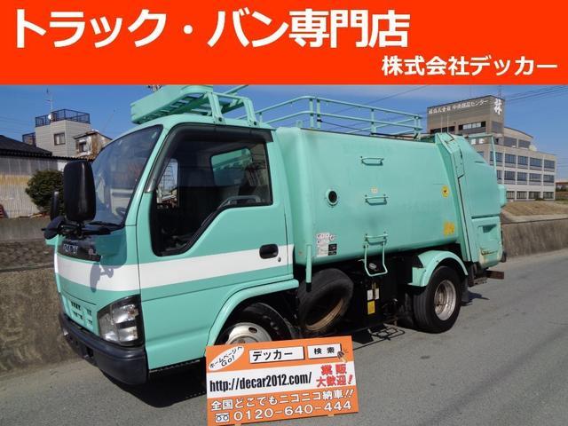 いすゞ 3トン積載 回転ダンプ式パッカー モリタ製5.0立米 連続