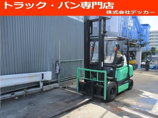 日本その他 住友 最大荷重2500kg アワメーター7432.2h 2段マスト 最大揚高4015MM ハイマスト ツメ長さ1800mm 前輪チューブタイヤ 後輪ノーパンクタイヤ 車両重量4060kg
