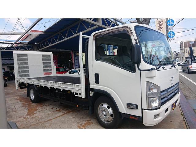 マツダ タイタントラック 超ロングフルワイドロー バイク積載 2輪 垂直パワーゲート 3トン 仕上げ済み車検令和4年5月