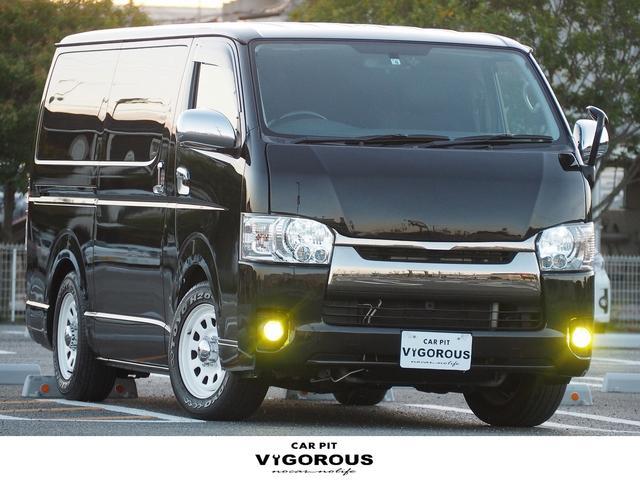 トヨタ スーパーGL ダークプライム ディーゼル バッドフェイスボンネット 両側パワースライドドア プッシュスタート LEDヘッドライト LEDフォグ ナビ 地デジ ETC バックカメラ ドラレコ ウッドコンビハンドル