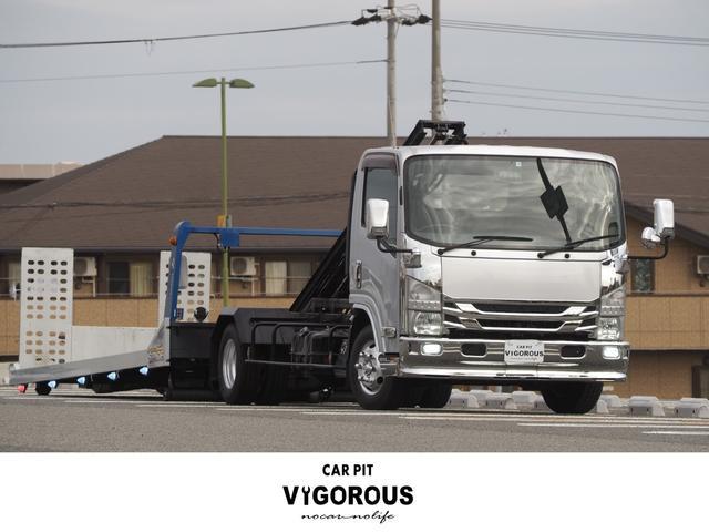 いすゞ エルフトラック カスタム積載車 積載車 タダノS-RIDE ウインチ ラジコン 油圧リアゲート LEDマーカー スマホ連携ディスプレイオーディオ  Bカメラ ETC 4JJ1 レカロシート メッキ 荷台内寸(約571×205)cm