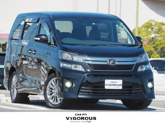 トヨタ 2.4Z ゴールデンアイズII HDDナビ(AVIC-VH0099) 地デジ Bluetooth ETC ドラレコ バックカメラ 両側パワースライドドア パワーバックドア ハーフレザーシート 7人乗り LEDフォグ 18AW