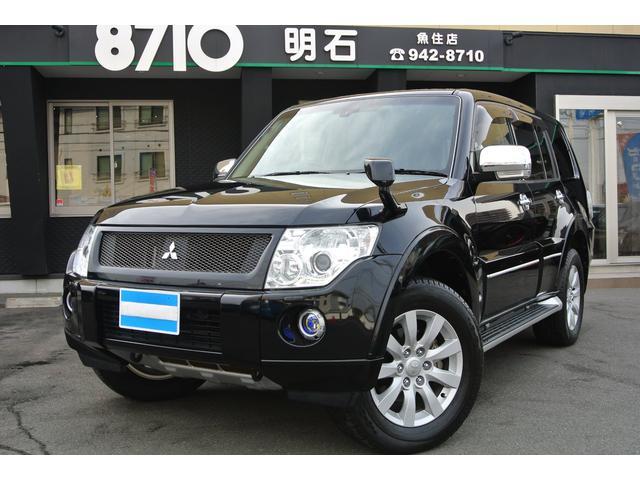 三菱 ロング スーパーエクシード黒革4WDロックフォードナビTV