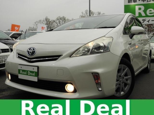 トヨタ プリウスアルファ S 5人乗 SDナビ Bluetooth スマートキー PUSHスタートシステム ETC 純正アルミホイール ECOモード EVモード 横滑り防止装置 イモビライザー AUTOライト フォグランプ
