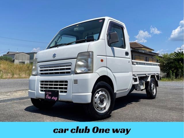 スズキ KCエアコン・パワステ フロア5MT パートタイム4WD マニュアルエアコン HDDナビ DVD視聴可 走行79000km ドアバイザー