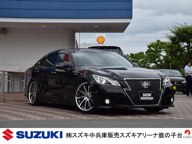 トヨタ アスリートG/黒革シート/ムーンルーフ/PCS
