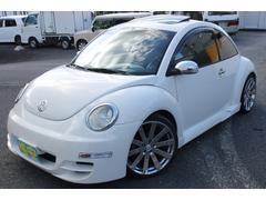 VW ニュービートル左ハンドル 革シート サンルーフ 社外パーツ多数