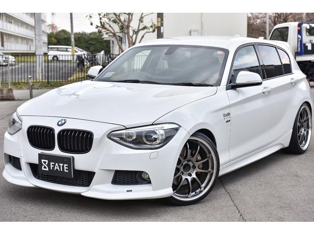 BMW 116i Mスポーツ AC SHNITZERエアロ/H&Rサスペンション/3D Designマフラー/ADVAN19インチアルミ/純正ナビTV