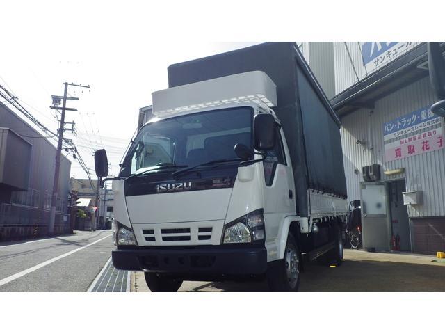 いすゞ 2t高床ロング カーテン式幌車 30