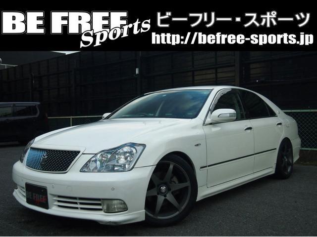 トヨタ アスリート・ 黒革電動シート・車高調・マフラー・1年保証
