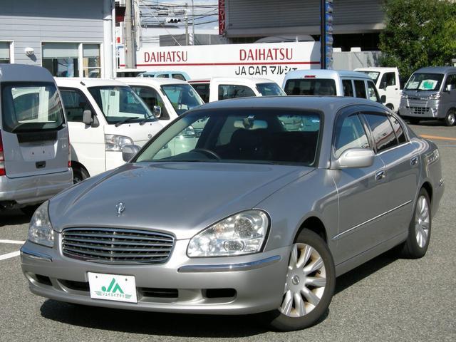 日産 450XV 本革パワーシート 助手席オットマン 純正ナビ