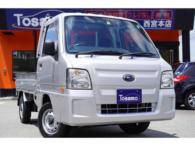 スバル サンバートラック TC-SC 最終型/5速ミッション/メモリーナビ/フルセグ/4WD/スーパーチャージャー/キーレス