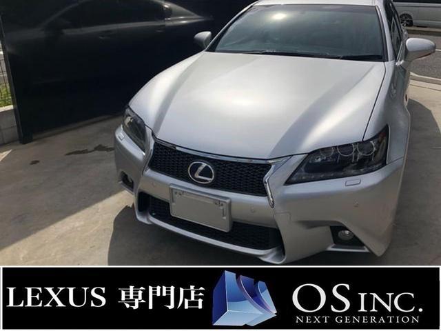 レクサス GS450h Fスポーツ/赤シート/3眼LED