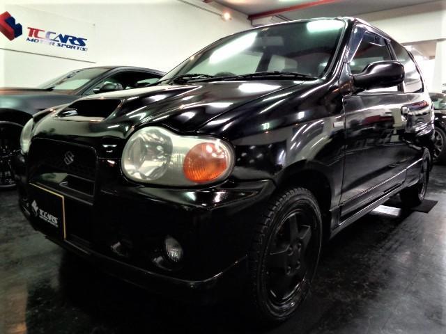 スズキ アルトワークス RS/Z 最終モデル希少4WDK6Aインタークーラーターボエンジン5MTミッション柿本マフラーエアクリWエアバックABSブラックアルミ買取車