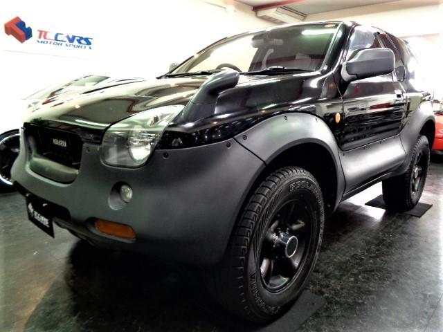 いすゞ ビークロス ベースグレード ブラックカラーウレタンオーバーフェンダーオリジナルスタイルフルエアロ3.2V6エンジンTOD4WD社外マフラー社外サスキットレカロシートMOMOステアリングサイドバイザーミラーヒーターTベルト交換済