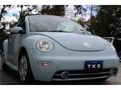 VW ニュービートルカブリオレベースグレード 電動オープン 黒革 ETC キーレス