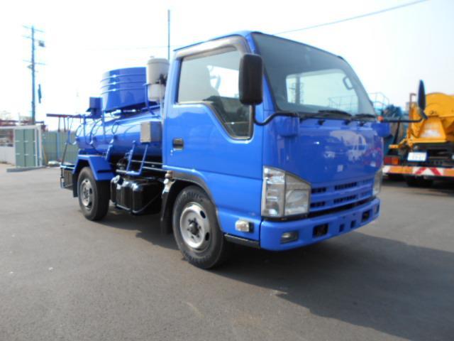 いすゞ エルフトラック  モリタエコノス製1800積載バキュームカー 上物点検整備済み、全塗装済み
