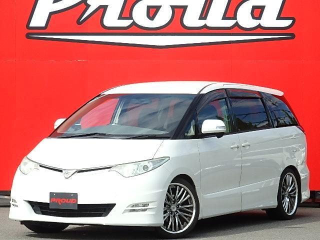 トヨタ エスティマ 2.4アエラス Gエディション 車高調 両側電動 後席TV