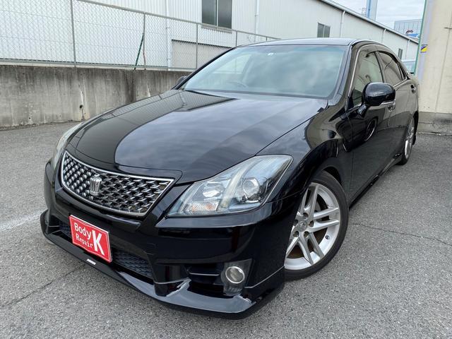 トヨタ アスリート 黒革シート シートヒーター・エアーシート マルチナビ Bluetooth対応 ETC スマートキー