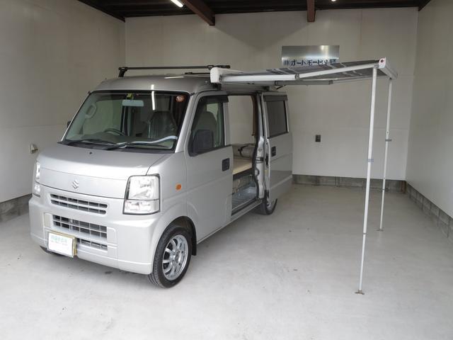 スズキ PA ハイルーフ 軽キャンピングカー ベッドキット 収納棚
