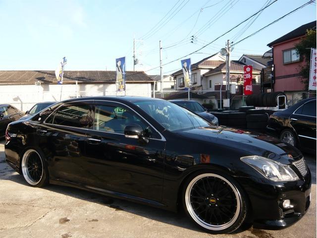 トヨタ 3.5アスリート 20AW車高調 黒本革 プリクラ フルセグ