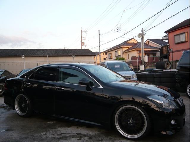 トヨタ 3.5アスリートGパッケージ 20AW 車高調 黒本革シート