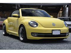 VW ザ・ビートル・カブリオレベースグレード ナビ TV DSRC ローダウン  黒革