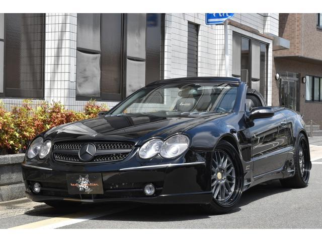 メルセデス・ベンツ SL SL500 ABC→車高調変更済 ロリンザーフルエアロ・マフラー 外20AW リムマッチペイント済 ロリンザーイルミステップ