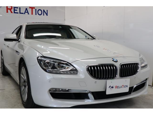 BMW 6シリーズ 640iグランクーペ ユーザー買取車サンルーフベージュレザーナビTVBカメラクルコンパワーシートシートヒータークリアランスソナースマートキープッシュスタートETC