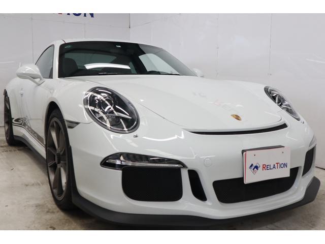 ポルシェ 911 911GT3 ディーラ車フロントリフトEg交換済アダプティプスポーツシートスポーツエキゾーストPDLSハーフレザーシートヒーターカラー―シートベルトセンターロックナビTVBカメラLEDヘッドライト