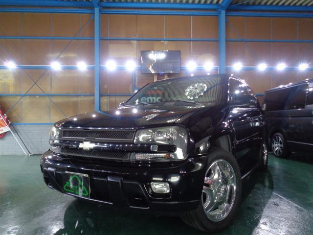 シボレー シボレートレイルブレイザー LTZ サンルーフ装着車4WD 社外AW20 HIDライト 革シート ETC 純正HDDナビ タイミングチェーン