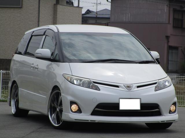 トヨタ アエラス 新品タイヤ 車高調 リアモニター エンジンOH済