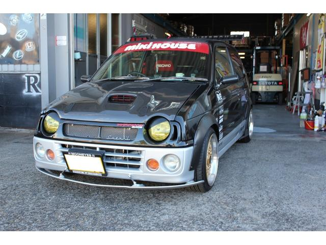 スズキ アルトワークス RS/Z RS/Z(4名) 車高調 15インチアルミ オーバーフェンダー 改造車
