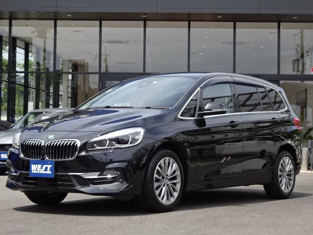 BMW 218dグランツアラー ラグジュアリー 純正HDDナビゲーション Bluetoothオーディオ バックモニター ミラー型ETC アイドリングストップ 前席シートヒーター パワーバックドア レーダーブレーキ レザーシート 前席パワーシート