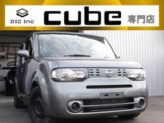キューブ15X ガンメタ/キーレスエントリーキー/低走行車両/電動格納ミラー/シートリフター