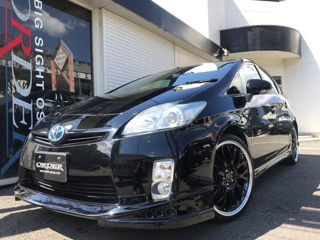 トヨタ G 新品エアロ 新品19AWタイヤ 新品黒革調シートカバー