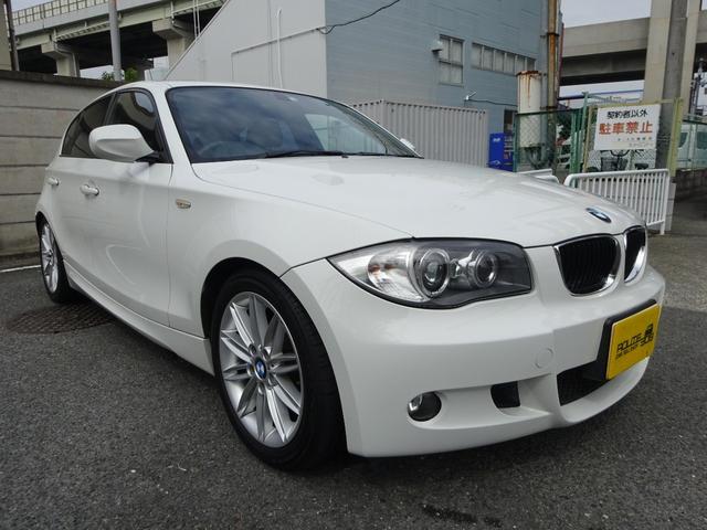 BMW 116i Mスポーツパッケージ SDナビ フルセグ ブルートゥース DVD再生 ETC Pスタートボタン HID 純正17インチアルミホイル