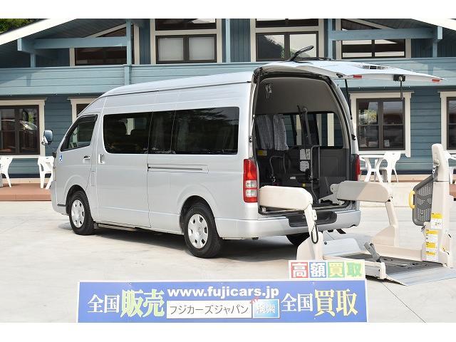 トヨタ リアリフト 車椅子4基 ストレッチャー固定 パワスラ CD