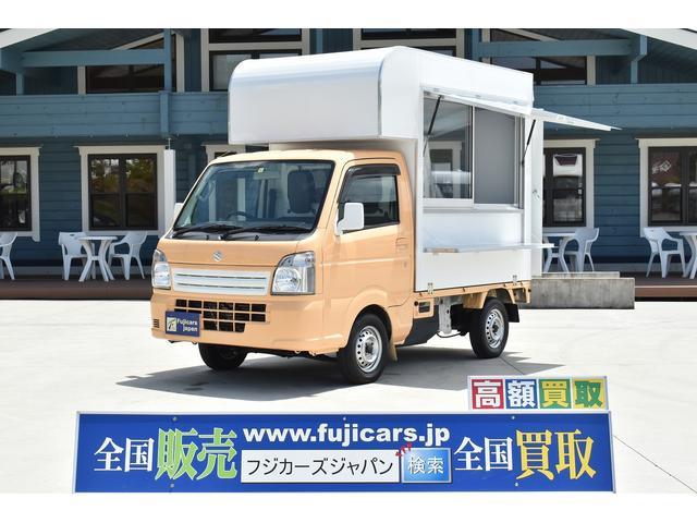 スズキ KCエアコン・パワステ 移動販売車 キッチンカー ケータリングカー 2層シンク 外部電源 換気扇 給排水タンク