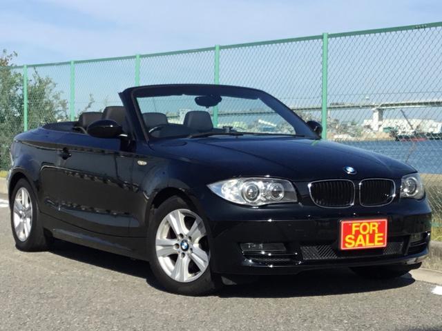 BMW 120i カブリオレ 電動オープン 黒本革 シートヒーター