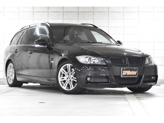 BMW 320iツーリング Mスポーツパッケージ 黒本革シート ツインサンルーフ フルセグナビ バックカメラ ミラーETC スマートキーモデル スペアキー有