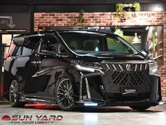 アルファード2.5S Cパッケージ WALDフルコンプリート 3眼シーケンシャルヘッドライト サンルーフ シートヒーター WALD21アルミ ブリッツ車高調